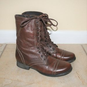 Steve Madden Troopa Leather Combat Boots 8.5